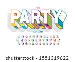 vector of stylized modern font... | Shutterstock .eps vector #1551319622
