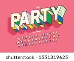 vector of stylized modern font... | Shutterstock .eps vector #1551319625