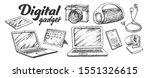 digital audio and video gadgets ... | Shutterstock .eps vector #1551326615