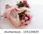 new pointes with flowers lying... | Shutterstock . vector #155134835