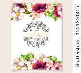invitation greeting card with... | Shutterstock . vector #1551350315