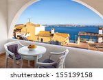 Balcony With Sea Views From A...