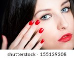 face detail of beautiful... | Shutterstock . vector #155139308
