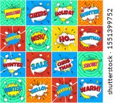 16 comic winter lettering in... | Shutterstock .eps vector #1551399752