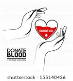 donate blood over white... | Shutterstock .eps vector #155140436