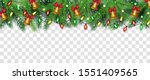 isolated christmas tree branch... | Shutterstock .eps vector #1551409565