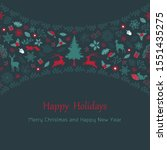merry christmas and happy new... | Shutterstock .eps vector #1551435275