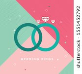 wedding rings icon. bride and...   Shutterstock .eps vector #1551452792