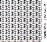 seamless geometric ornamental... | Shutterstock .eps vector #1551468245