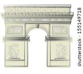 arc de triomphe    Shutterstock .eps vector #155149718