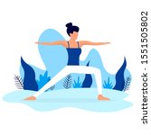 web page template of yoga... | Shutterstock .eps vector #1551505802