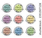 merry christmas lettering...   Shutterstock .eps vector #1551507128