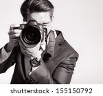 photographer man is using... | Shutterstock . vector #155150792