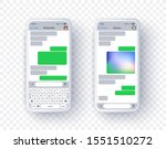 two screen of text app for... | Shutterstock .eps vector #1551510272