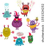 holidays new year monsters... | Shutterstock .eps vector #1551524252