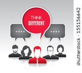 think different | Shutterstock .eps vector #155156642