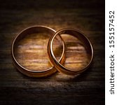 wedding gold ring | Shutterstock . vector #155157452
