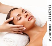 Face Massage.  Close Up Of A...
