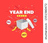 special offer year end sale... | Shutterstock .eps vector #1551580472