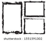 abstract grunge border frames...   Shutterstock .eps vector #1551591302