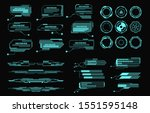 hud elements. futuristic... | Shutterstock .eps vector #1551595148