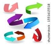 colorful arrow symbols. arrow...   Shutterstock .eps vector #1551615518