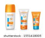 sunscreen mousturizing cream... | Shutterstock .eps vector #1551618005