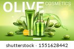 olive cosmetics landing page ... | Shutterstock .eps vector #1551628442