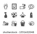 set of cleaning icons  such as... | Shutterstock .eps vector #1551632048