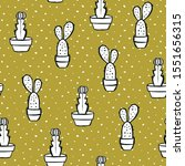 Cactus Vector Seamless Pattern...