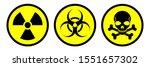 radiation sign  biological...   Shutterstock .eps vector #1551657302