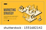 marketing strategy isometric... | Shutterstock .eps vector #1551682142