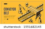 factory conveyor belt isometric ... | Shutterstock .eps vector #1551682145