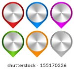map markers with metallic... | Shutterstock .eps vector #155170226
