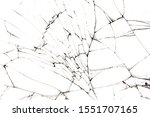 Cracked Glass Isolated On A...