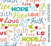 seamless christian colorful... | Shutterstock .eps vector #1551712532