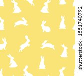 yellow bunny seamless pattern.... | Shutterstock .eps vector #1551740792