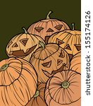 pumpkin background | Shutterstock .eps vector #155174126