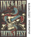 colorful tattoo festival poster ... | Shutterstock .eps vector #1551749378