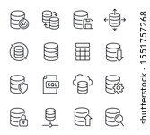 database  information storage... | Shutterstock .eps vector #1551757268