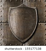Old Metal Shield Over Armour...