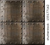 Rusty Metal Armour Background...