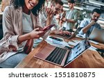 group of young multiracial... | Shutterstock . vector #1551810875