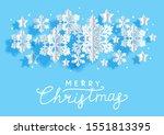 christmas horizontal greeting... | Shutterstock .eps vector #1551813395