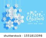 christmas horizontal greeting... | Shutterstock .eps vector #1551813398