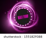 black friday sale banner. swirl ... | Shutterstock .eps vector #1551829388