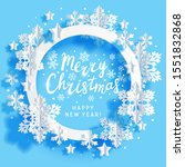 christmas greeting card with... | Shutterstock .eps vector #1551832868