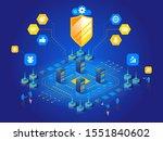 antivirus software isometric... | Shutterstock .eps vector #1551840602