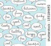 happy speech bubbles pattern... | Shutterstock .eps vector #155184692
