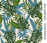 botanical seamless pattern with ... | Shutterstock .eps vector #1551847745